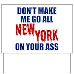 New York Football Yard Sign