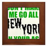 New York Football Framed Tile