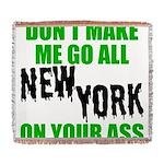 New York Football Woven Blanket