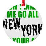 New York Football Round Ornament