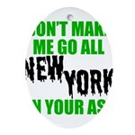 New York Football Oval Ornament
