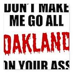 Oakland Football Square Car Magnet 3