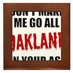 Oakland Football Framed Tile