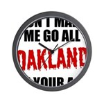 Oakland Football Wall Clock