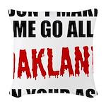 Oakland Football Woven Throw Pillow