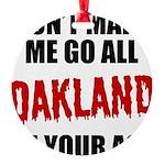 Oakland Football Round Ornament