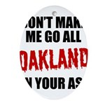 Oakland Football Oval Ornament