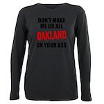 Oakland Football Plus Size Long Sleeve Tee