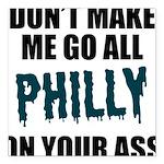 Philadelphia Football Square Car Magnet 3