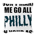 Philadelphia Football Woven Throw Pillow