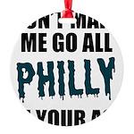 Philadelphia Football Round Ornament