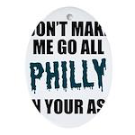 Philadelphia Football Oval Ornament