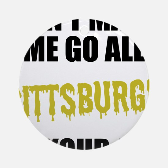 Pittsburgh Football Round Ornament