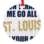 St. Louis Football Round Ornament