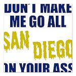 San Diego Football Square Car Magnet 3