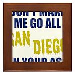 San Diego Football Framed Tile