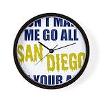 San Diego Football Wall Clock
