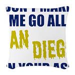 San Diego Football Woven Throw Pillow
