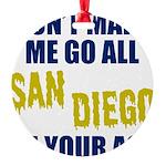 San Diego Football Round Ornament