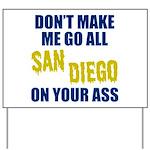 San Diego Football Yard Sign