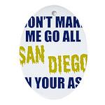 San Diego Football Oval Ornament