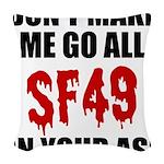 San Francisco Football Woven Throw Pillow