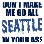 Seattle Football Square Car Magnet 3