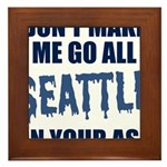 Seattle Football Framed Tile