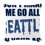 Seattle Football Woven Throw Pillow