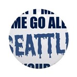 Seattle Football Round Ornament