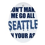 Seattle Football Oval Ornament
