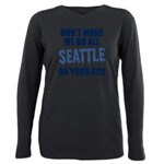 Seattle Football Plus Size Long Sleeve Tee