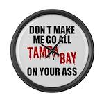 Tampa Bay Football Large Wall Clock