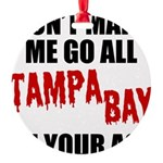 Tampa Bay Football Round Ornament