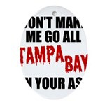 Tampa Bay Football Oval Ornament