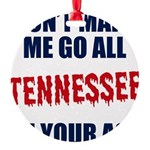 Tennessee Football Round Ornament