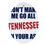 Tennessee Football Oval Ornament