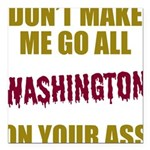Washington Football Square Car Magnet 3