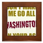 Washington Football Framed Tile