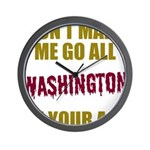 Washington Football Wall Clock