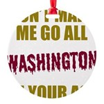 Washington Football Round Ornament