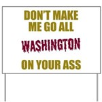 Washington Football Yard Sign