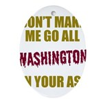 Washington Football Oval Ornament