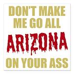 Arizona Baseball Square Car Magnet 3