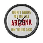 Arizona Baseball Large Wall Clock
