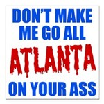 Atlanta Baseball Square Car Magnet 3
