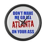 Atlanta Baseball Large Wall Clock