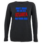 Atlanta Baseball Plus Size Long Sleeve Tee