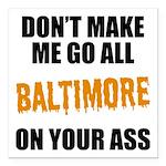 Baltimore Baseball Square Car Magnet 3