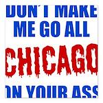 Chicago Baseball Square Car Magnet 3